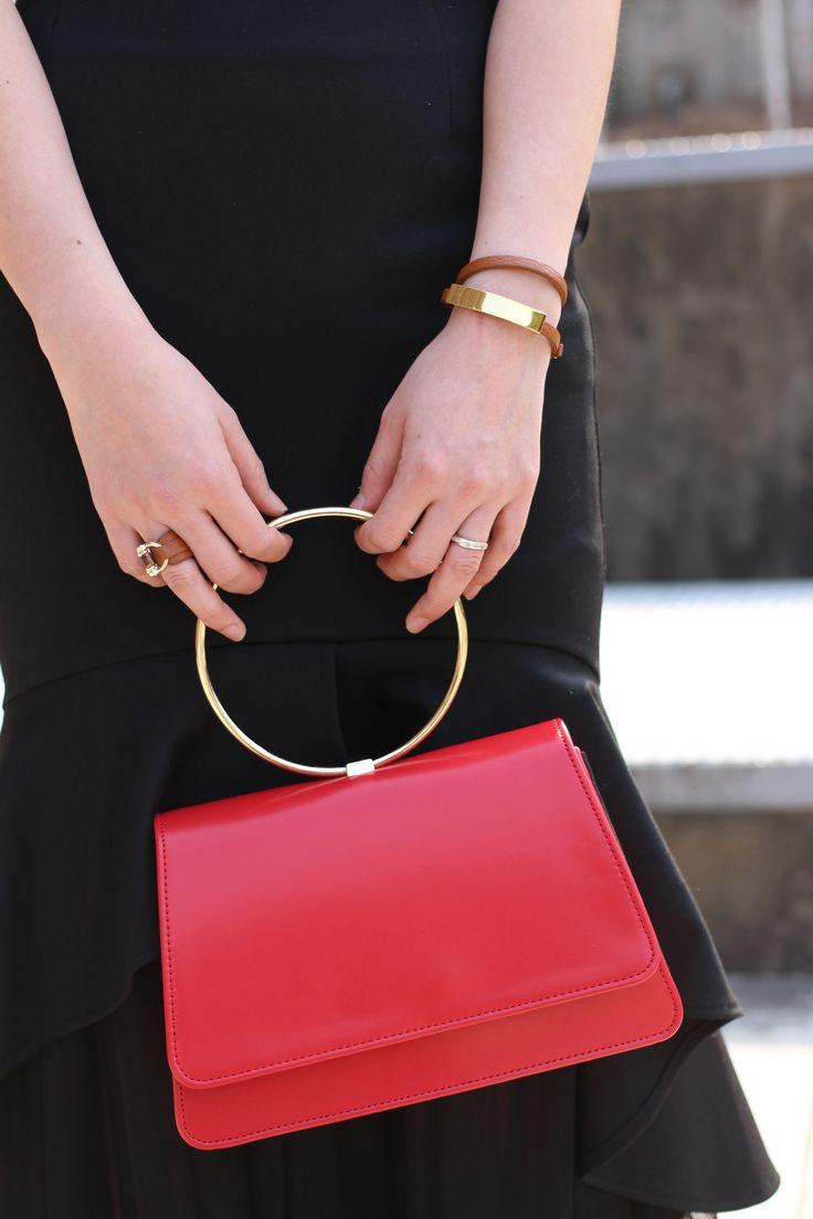 #red #skirt #gold ring