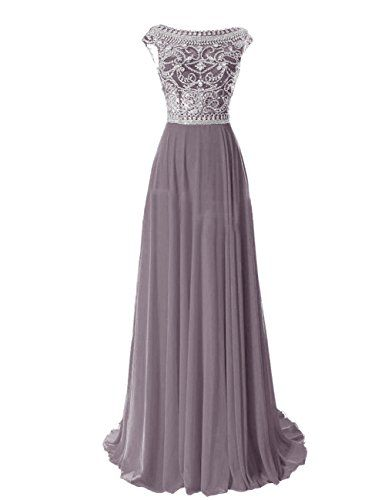 Tidetell Elegant Floor Length Bridesmaid Cap Sleeve Prom Evening Dresses Grey Size 2 Tidetell http://www.amazon.com/dp/B00R5DQ7A2/ref=cm_sw_r_pi_dp_pz8Gvb09X3D5M