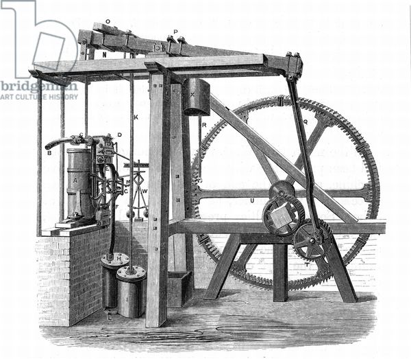 James Watt's (1736-1819) prototype steam engine 'Old Bess ...