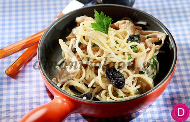 Σπαγγέτι με σάλτσα μανιταριών | Dina Nikolaou
