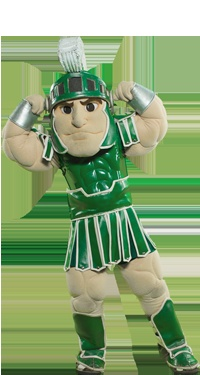 Sparty, Michigan State standing ready