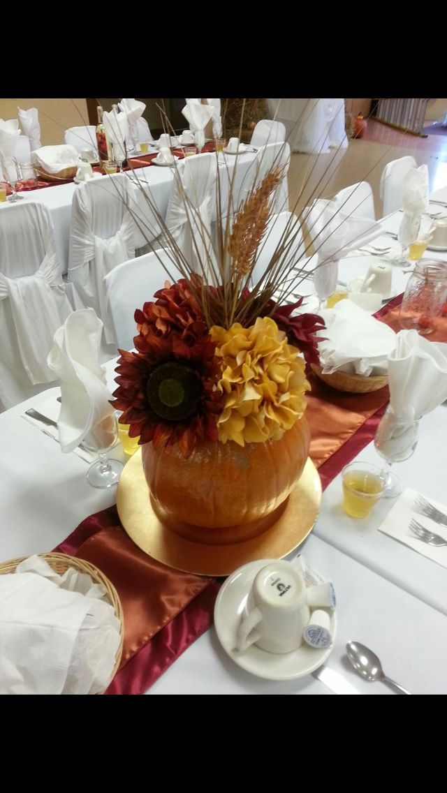 Fall themed Wedding GLR Firehall Sydney NS