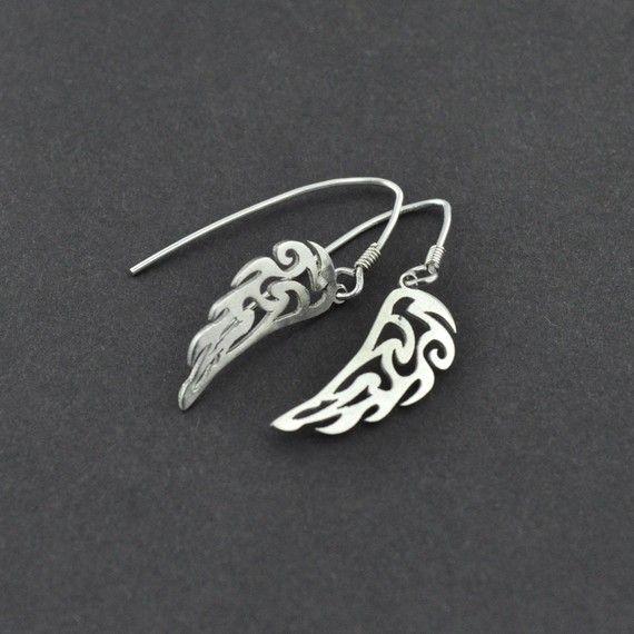 Nephilim Wing earrings                                                                                $38 by hebelmet on etsy