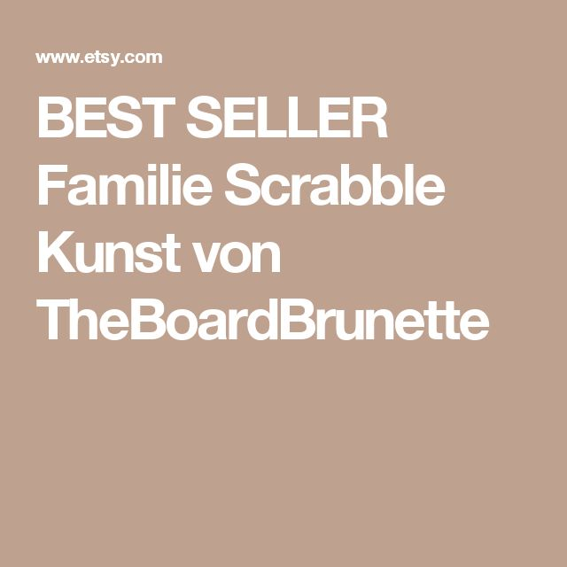 BEST SELLER     Familie Scrabble Kunst  von TheBoardBrunette