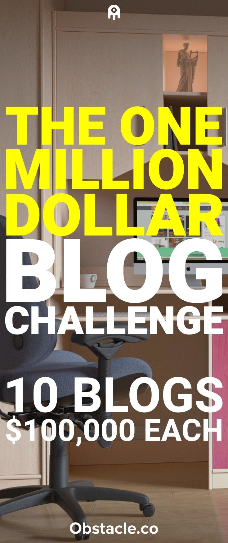 There are a lot of different goals you can set for a blog. $100,000 is a solid goal to have. My goal is to do that 10 different times with 10 different blogs. Say hello to the One Million Dollar Blog Challenge.