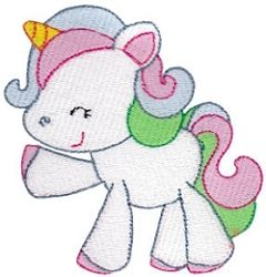 Magical Unicorn 11 - 2 Sizes! | Featured Products | Machine Embroidery Designs | SWAKembroidery.com Bunnycup Embroidery