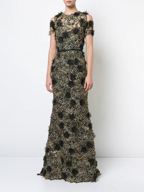 411f1855 Marchesa Notte 3D Floral Lace Gown - Farfetch | Barbie in 2019 ...