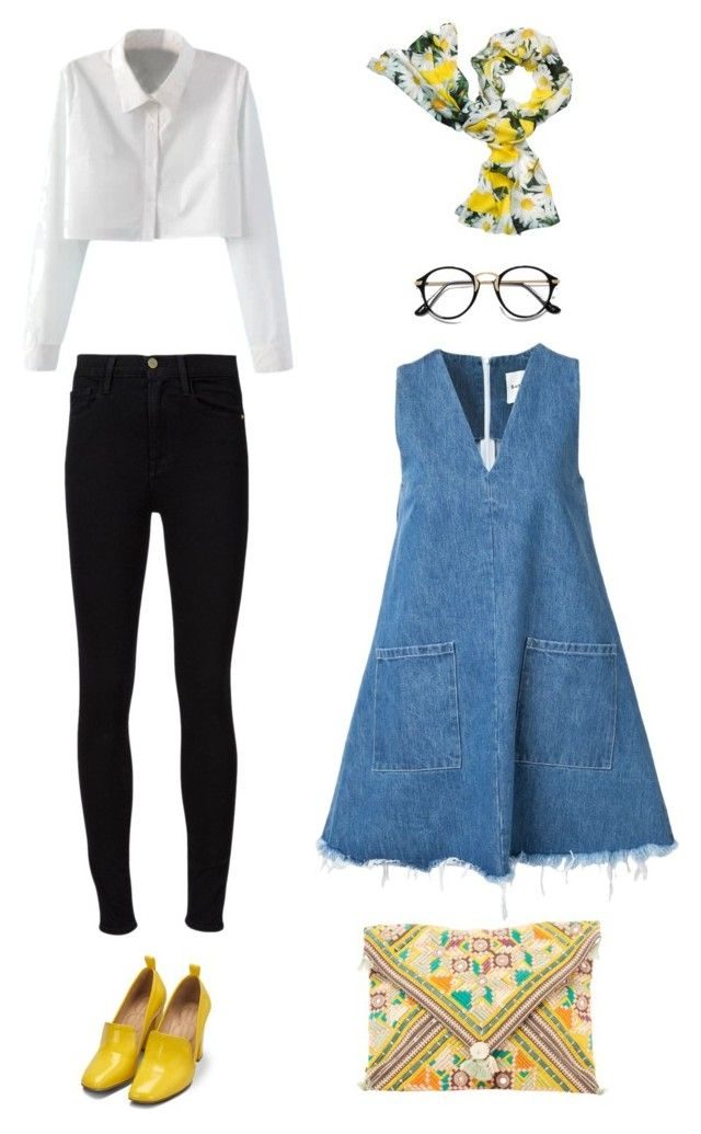 """""""Untitled #78"""" by priliscaa on Polyvore featuring WithChic, Sandy Liang, Frame Denim, Kate Spade and Bill Blass"""
