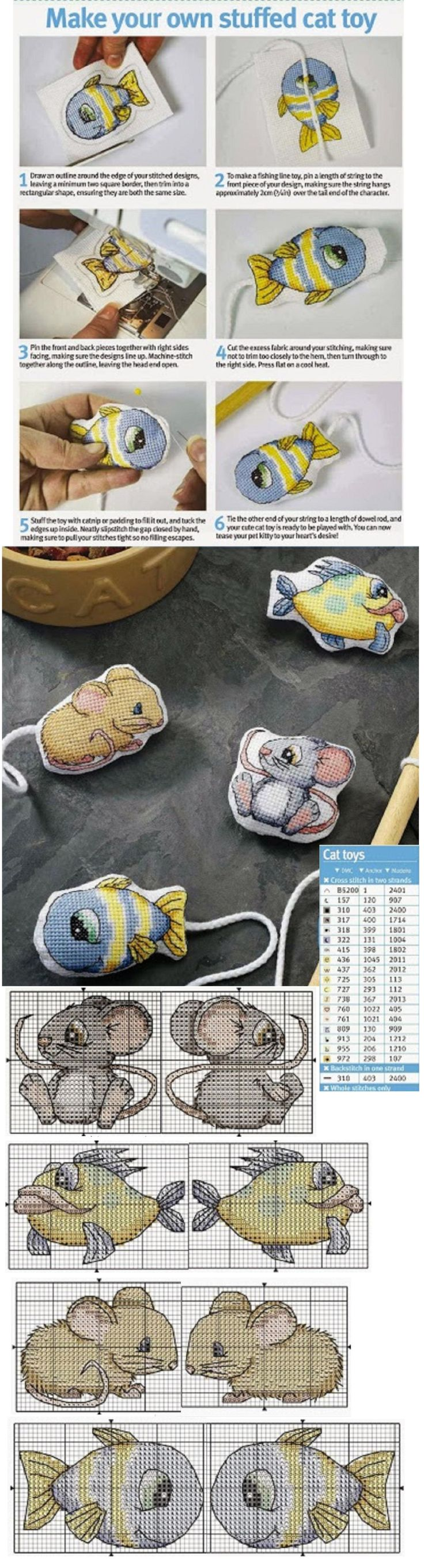 Cross Stitch Crazy - crazy to spend that much time stitching a toy for your cat!