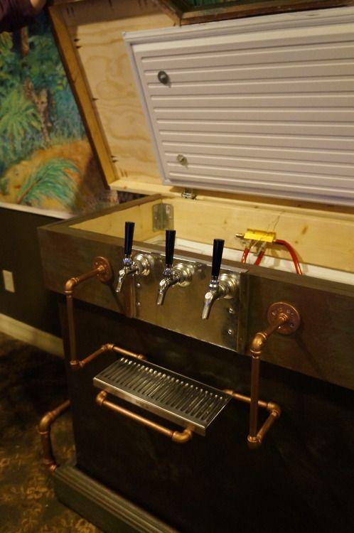 Inside our Steampunk Keezer! | Keezer Build | Pinterest ...