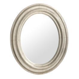 Silver Anatole Oval Mirror 80x68