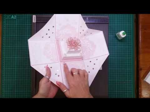 Tutorial for the Cake in the Wedding Exploding Box Card - After many requests today I am showing a tutorial on how to create the cake I have in these boxes. ...
