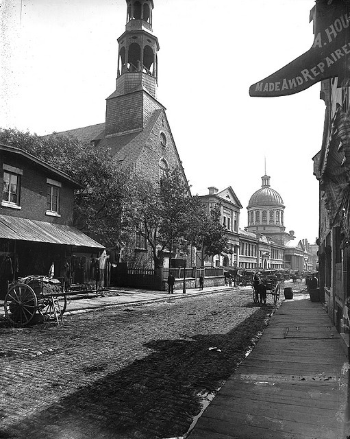 Bonsecours Church, St. Paul Street, Montreal, QC, about 1884.