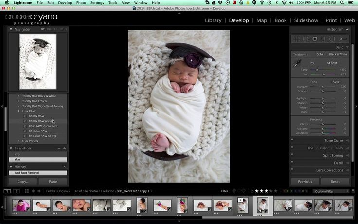 How to edit a Newborn Photo {Brooke Bryand Photography} Adobe Lightroom LR photography Editing