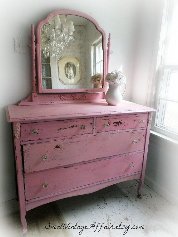Shabby Chic Pink Dresser