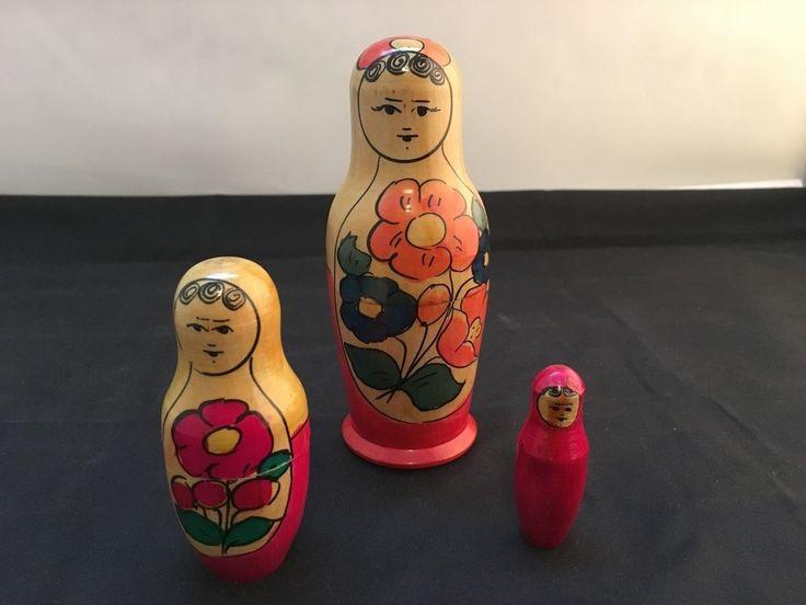 Vintage Matryoshka Babushka Russian Nesting Doll - 3 doll set (Code:2017B) in Dolls, Bears, Babushka Dolls   eBay!