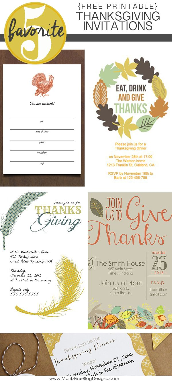 Thanksgiving Invitations that are free and easy to customize are the perfect way to invite your family, friends and neighbors to your Thanksgiving Gathering.