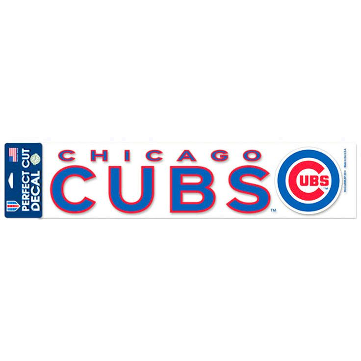 """Chicago Cubs WinCraft 4"""" x 17"""" Die Cut Decal - Royal - $7.19"""