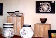 Raku Pottery by Louise van Niekerk  Aladdins-de-Light Nottingham Road, Midlands Meander, KZN, South Africa  www.midlandsmeander.co.za