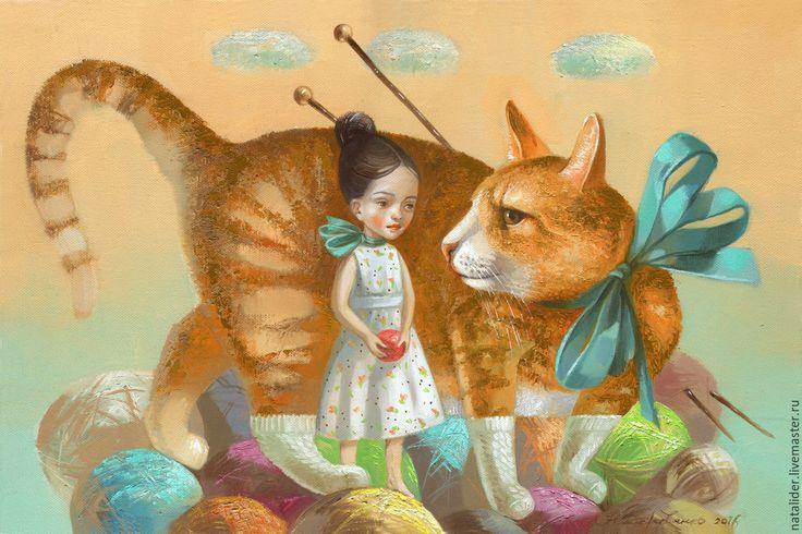 Купить или заказать Картина Носочек для рыжего котика в интернет-магазине на Ярмарке Мастеров.