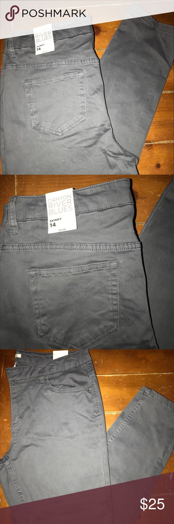 Canon river blue pants Grayish blue pants brand new with tags. Inseam is 27 inches. Canon River purchased at Sears Pants Skinny