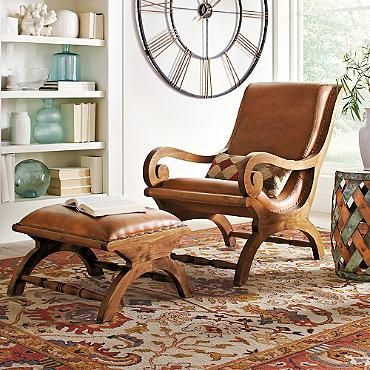 Augusto Chair in brown; grandinrod.  $649 minus 10% and free shipping-  ottoman is $249 also 10% off and free shipping