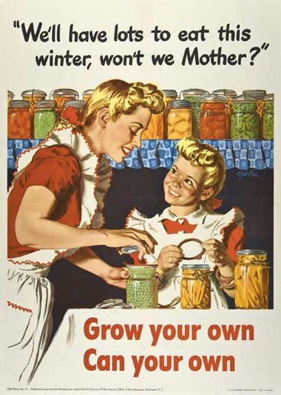 Vintage canning graphic.  Mom canned a lot of the things we ate.