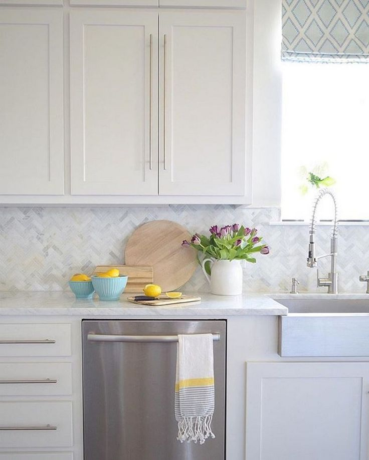 53+ Cool White Cabinet Kitchen Backsplash Tile Pattern ...