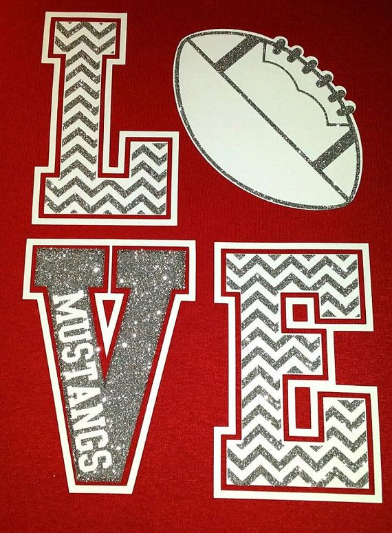 ORIGINAL DESIGN, Glitter Chevron LOVE Spirit Shirts, Football Mom Shirt, Football Girlfriend Shirt, Football Sister, The Walnut Street House
