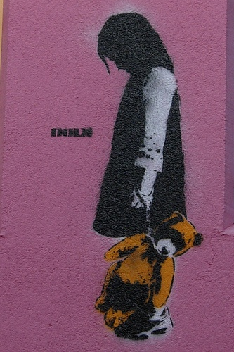 #streetart #dolk  DOLK - Teddy in cuffs by ©athrine, via Flickr