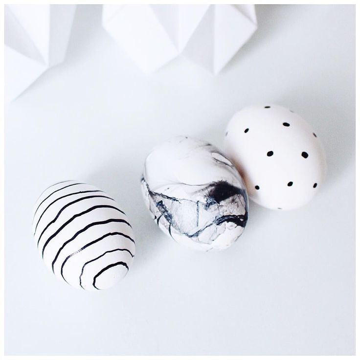 Marble and Monochrome Eggs   Easter Decoration   Eastereggs