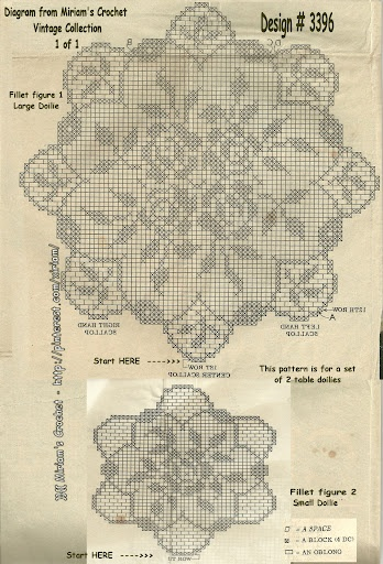 My own vintage collection vintage crohcet pattern, Design # 3396 - 1 page for this design