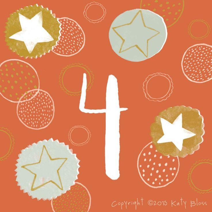 Katy Bloss illustrated Advent Calendar Day 4