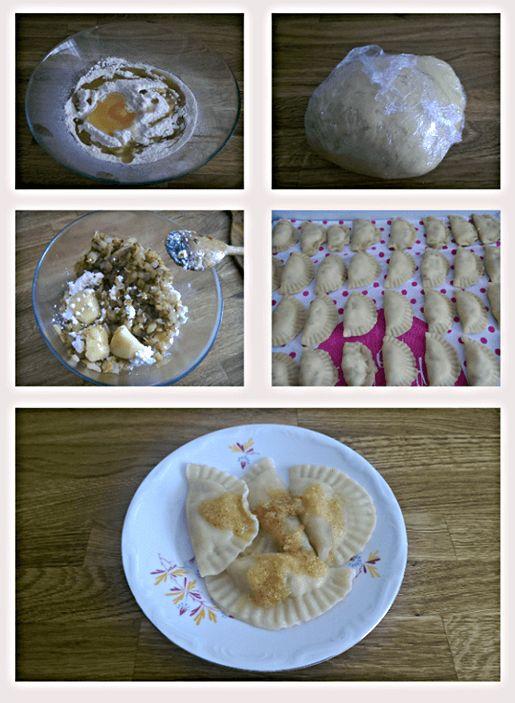 Prawie pierogi ruskie to najlepsze pierogi jakie mogą być. Tradycyjnie mają w swoim farszu dużo sera i ziemniaków moje są trochę zmodyfikowane, ale zapewniam, że smakują wyśmienicie.