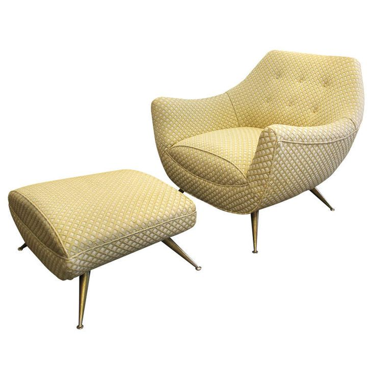 Mid-Century Modern Lounge Chair and Ottoman by Henry P. Glass | From a unique collection of antique and modern lounge chairs at http://www.1stdibs.com/furniture/seating/lounge-chairs/