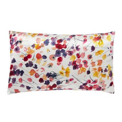 John Rocha Designer Bright Purple Floral Silk Blend Cushion At Debenhams