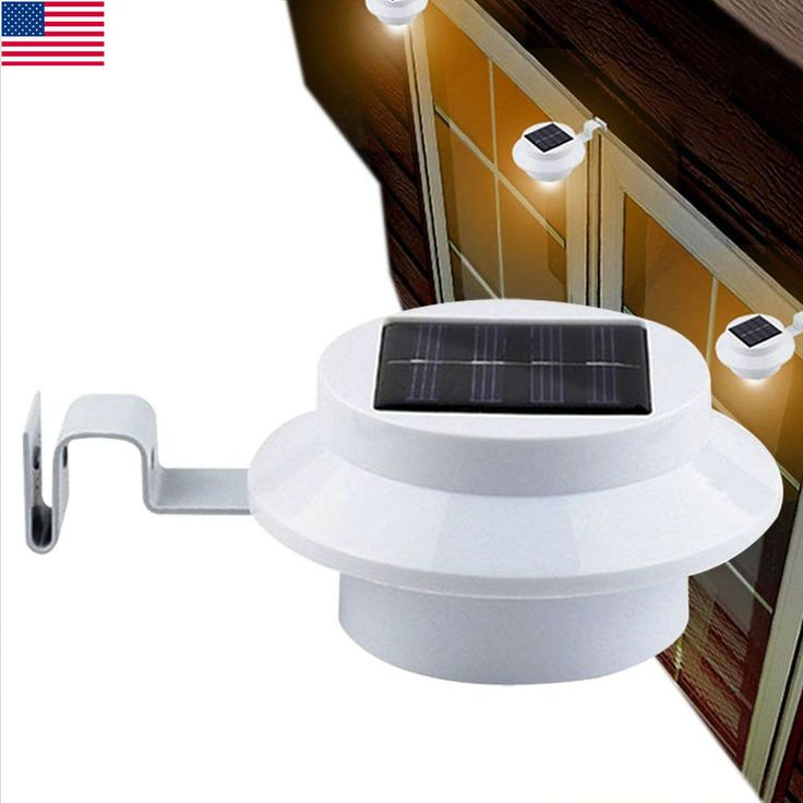 New Solor Power Smart LED Night Utility Security Indoor Outdoor Garden Light USA #Unbranded