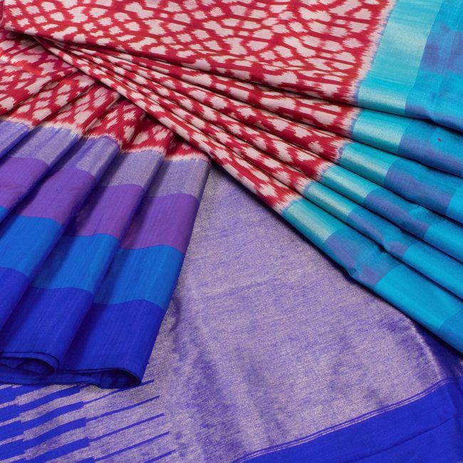 Sarveshi Magenta Handwoven Ikat Silk Saree 10007744 - AVISHYA