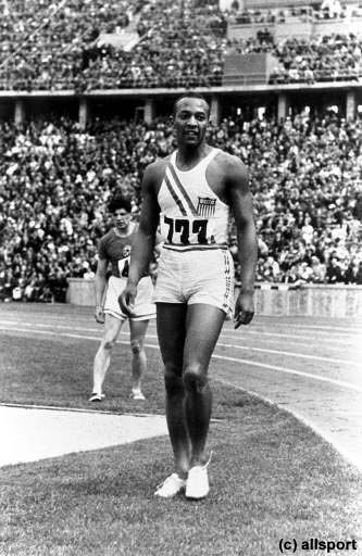Jesse Owens | Jesse Owens (USA) : Won four gold medals at 1936 Olympics, including ...