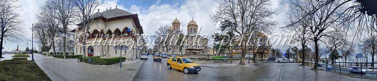 fotografii panoramice, statuie port, muzeuul ion jalea, arhiepiscopia tomisului, cazino, mare, panoramic photography,