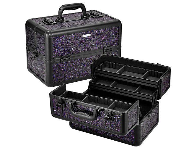 glitter train case sephora collection 132 malette de maquillage paillettes sephora collection - Prix Maquillage Mariage Sephora