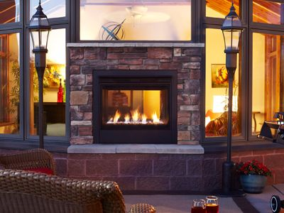 Heatilator | The Twilight Indoor/Outdoor Fireplace Offers the Best of Both Worlds