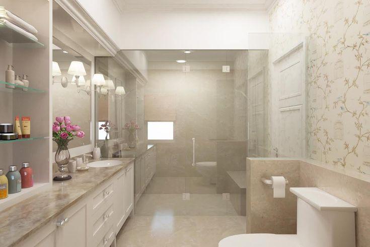 Dekorasi kamar mandi modern dan mewah   Portofolio By : Joen (Interior Designer di Sejasa.com)