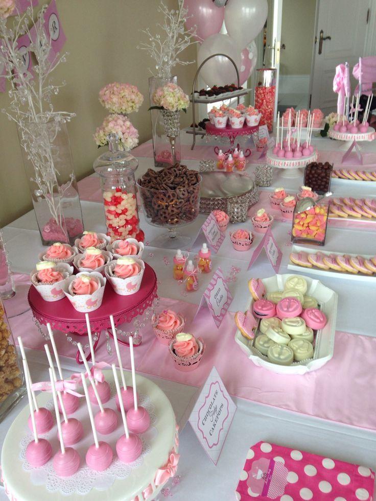 Beautiful baby shower dessert table !