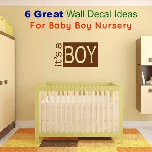 Best This Is A Cute Wall Decal For Your Baby Boy Nursery Baby Boy Nursery Ideas Pinterest Boys 400 x 300