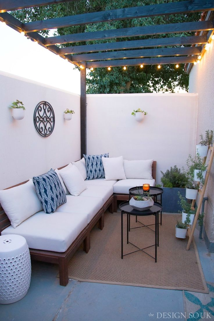 A Small Patio Makeover – The Design Souk – An Interiors, Styling & Travel Blog   – Terrazas, Balcones, Patios, Porches, Piscinas y areas abiertas.