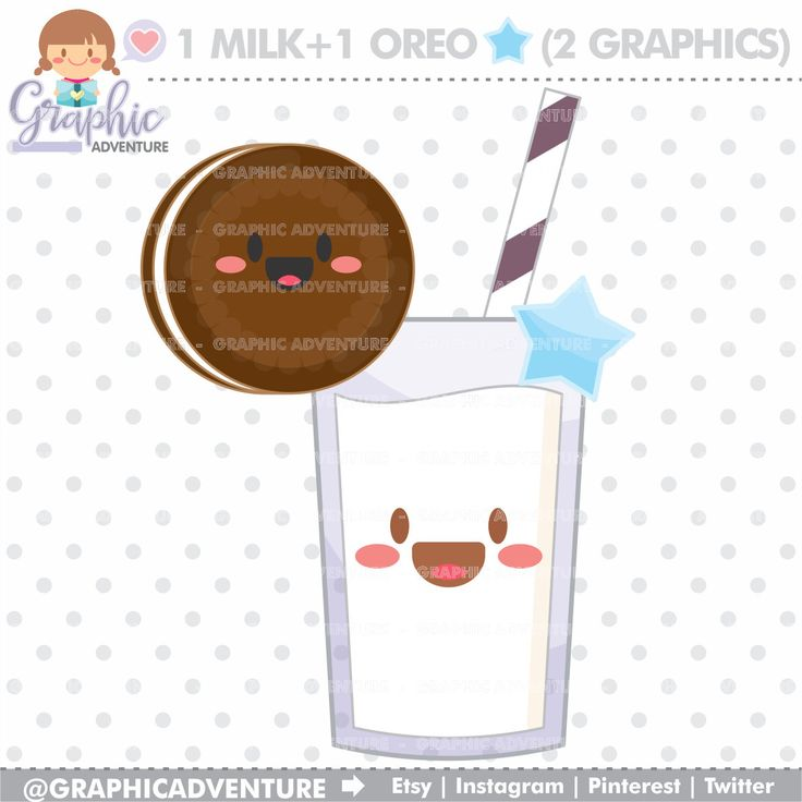 75%OFF - Milk Clipart, Milk Graphics, COMMERCIAL USE, Kawaii Clipart, Oreo Clipart, Planner Accessories, Milk Party, Oreo Graphics, Cookie