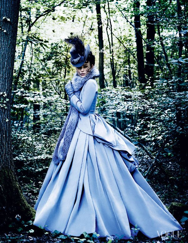 dustjacket attic: Keira Knightly (by mario testino)Keira Knightly  for Vogue in costume for Anna Karenina (photography by Mario Testino) via Dustjacket Attic. I WILL finish this book soon. <3 Literature to Cinema