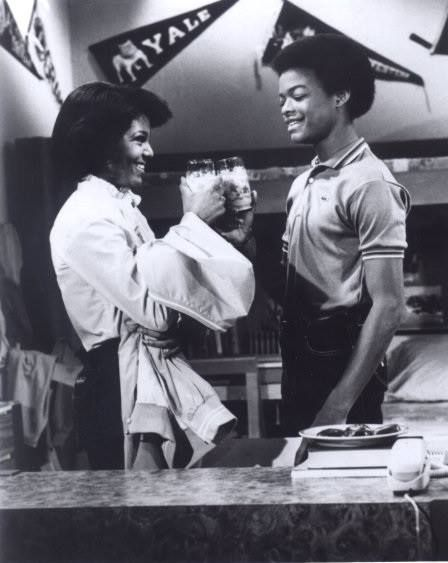 """From Facebook - """"Up From Slavery"""" Page 9/2015.  1970's Janet Jackson and Todd Bridges on Diff'rent Strokes."""