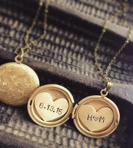 Cool gift idea for the wife: Custom Initials & Date Locket Necklace by Sora Designs on Scoutmob Shoppe